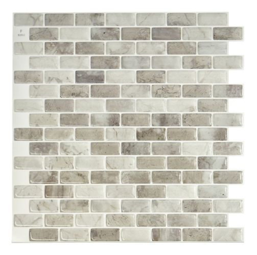 Smart Tiles Peel & Stick Tiles, Mandolia Alba Product image