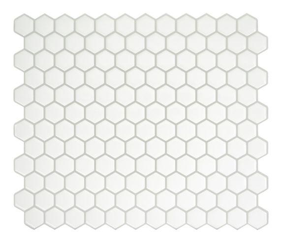 Smart Tiles Peel & Stick Tiles, Hexago White Product image