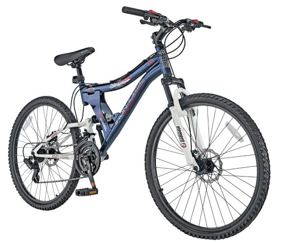 Ironhorse Jumpstart Full Suspension Mountain Bike, 17-in