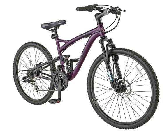 Schwinn Teslin 2.4 Full Suspension Mountain Bike, Women's, 26-in
