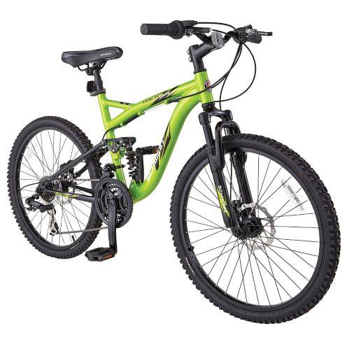 Vélo de montagne Schwinn Teslin 2.4, suspension intégrale, garçons, 24 po