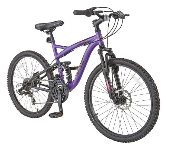 Schwinn Teslin 2.4 Girls' Full Suspension Mountain Bike, 24-in Product image