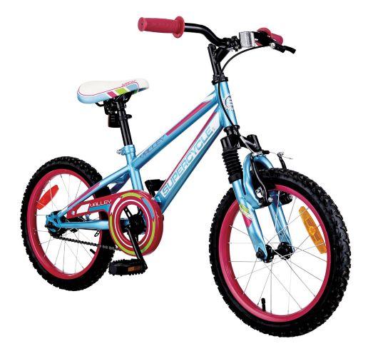 Vélo Supercycle Valley pour enfants, bleu pâle, 16 po