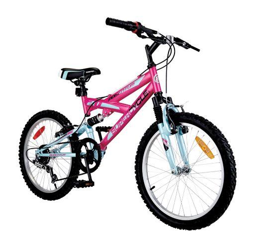Vélo Supercycle Momentum, susp. double, jeunes, 20 po, rose Image de l'article
