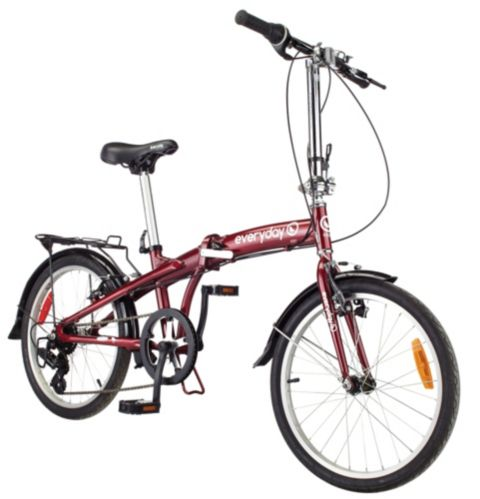 Everyday Cheepsoot Folding Hybrid Bike, 20-in