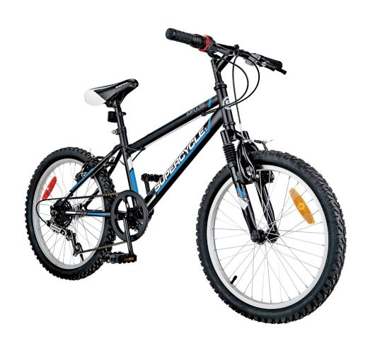 Supercycle Impulse Youth Bike, Black/Blue, 20-in Product image