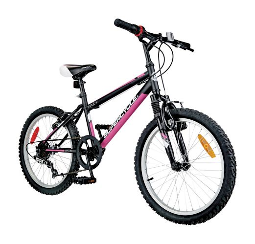 Supercycle Impulse Youth Bike, Black/Pink, 20-in Product image