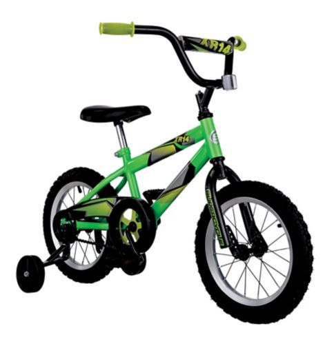 Supercycle Neon Green XR14 Kids Bike, 14-in