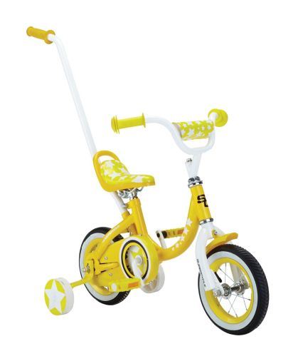 Kids' Bike with Push Handle, 10-in