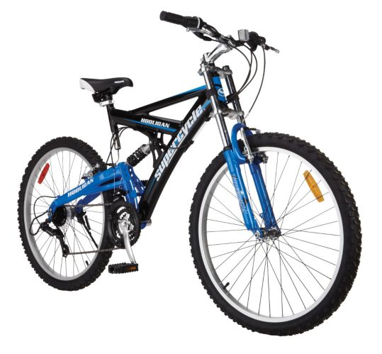 Supercycle Hooligan Full Suspension Mountain Bike, 26-in