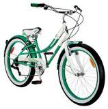 Everyday Shine Youth Cruiser Bike, White/Green, 24-in | Everydaynull