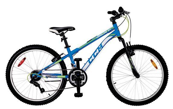 Vélo de montagne CCM Hardline, sus. avant, jeune, 24 po bleu Image de l'article