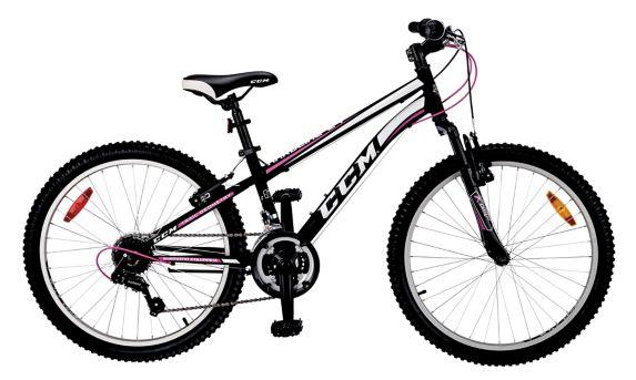 Vélo de montagne CCM Hardline, jeunes, 24 po, noir/rose Image de l'article