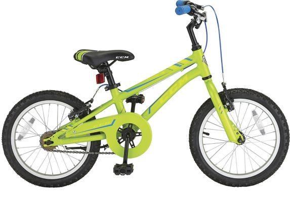 CCM Flow Kids' Bike, Lime Green, 16-in