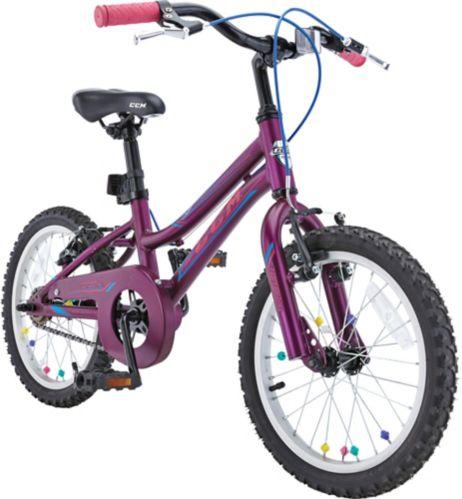 Vélo CCM Flow, enfants, mauve, 16 po Image de l'article