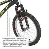 Vélo en acier pour enfants CCM Ruckus, noir et jaune, 18 po | CCM Cycling Productsnull