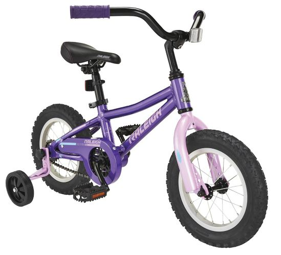 Raleigh Vibe Kids' Bike, Purple, 12-in Product image