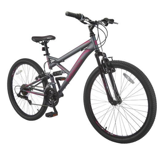 Vélo de montagne Supercycle Outlook, double suspension, rose/gris, 26 po Image de l'article