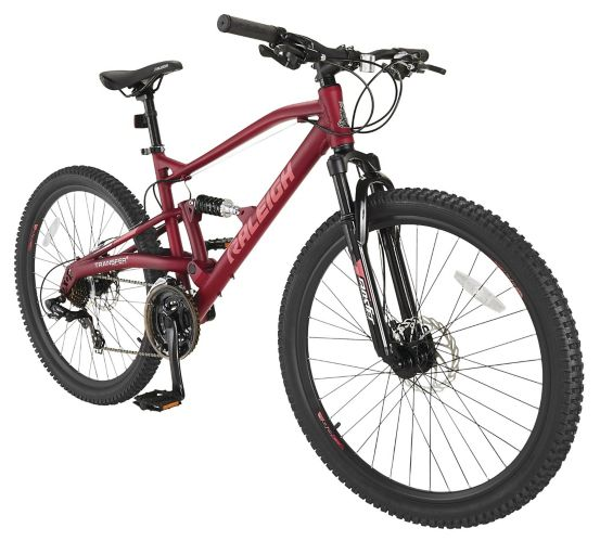 Vélo de montagne Raleigh Chase, double suspension, 26 po, rouge