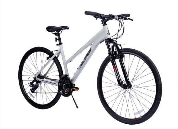 Raleigh Overtake 700C Hybrid Bike, White Product image