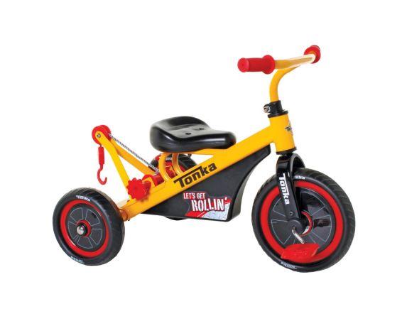 Tricycle Tonka avec câble de remorquage