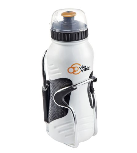 Via Velo 500-mL Bike Water Bottle with Cage Product image