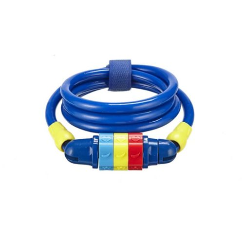 Supercycle Kids' Bike Cable Combo Lock, Blue Product image