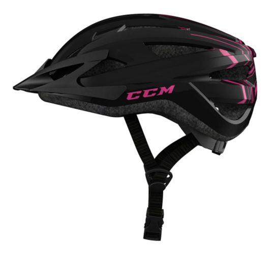 CCM Ascent Bike Helmet, Adult, Black/Pink Product image