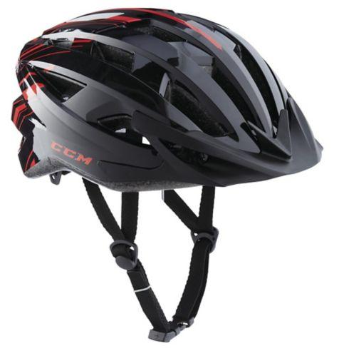 CCM Ascent Bike Helmet, Adult, Black/Red Product image