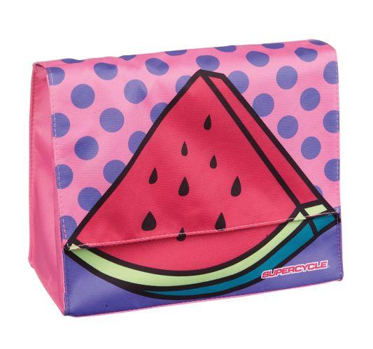 Supercycle Kids' Handlebar Bike Bag, Pink Watermelon Product image