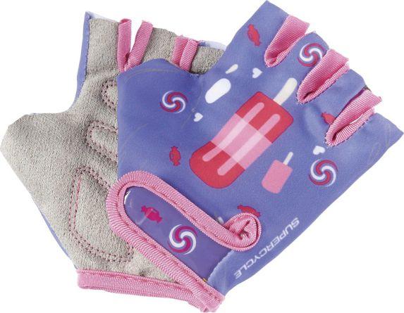 Supercycle Kids' Half Finger Bike Gloves, Purple Product image