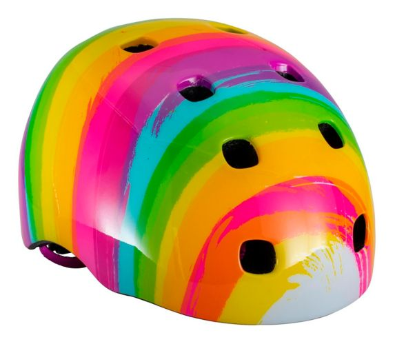 Schwinn Burst Kids' Bike Helmet 5+, Rainbow White Product image