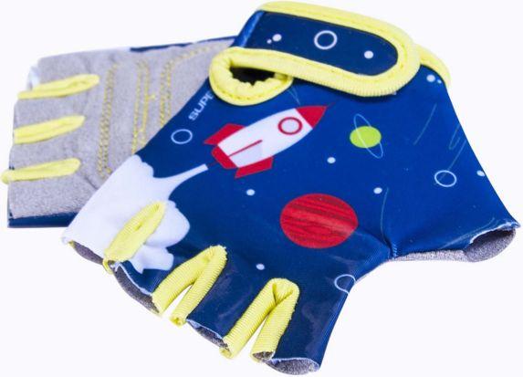 Supercycle Kids' Half Finger Bike Gloves, Blue