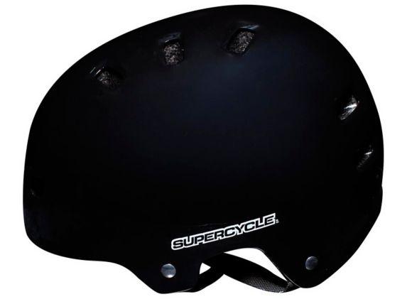 Supercycle Basic Multi-Sport Bike Helmet, Adult, Black