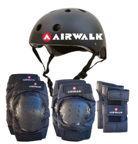 Airwalk Bike Helmet and Protective Pad Combo, Large/Extra Large