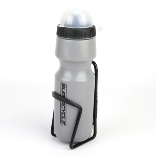 Supercycle Bike Water Bottle with Cage, 620 mL