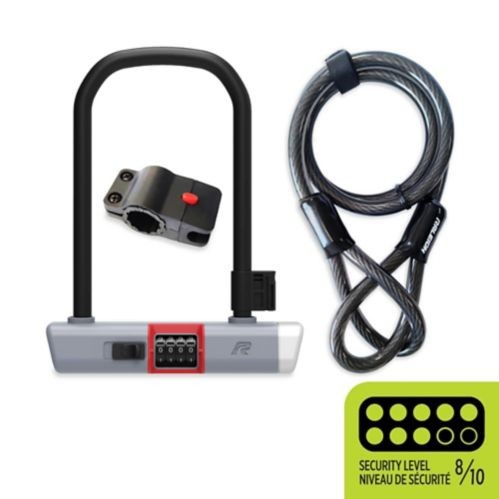 Raleigh Steel U-Lock/Cable Combo, 9-in Product image
