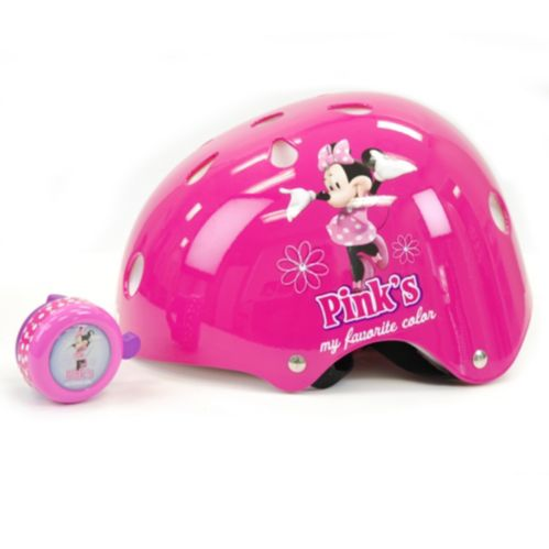 Disney Minnie Mouse Hardshell Children's Bike Helmet with Bell Product image