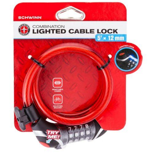 Schwinn Steel Braided Combination Light Cable Bike Lock, 5-ft Product image