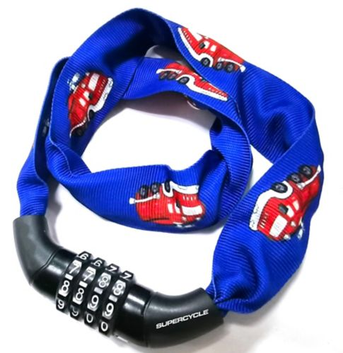 Supercycle Kids' Bike Chain Cable Combo Lock, Blue Product image
