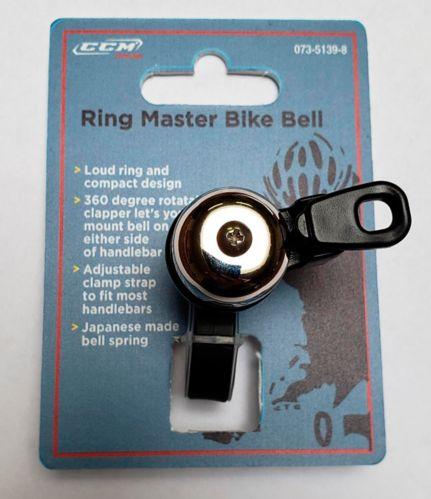 Clochette de vélo à profil bas CCM Ringmaster
