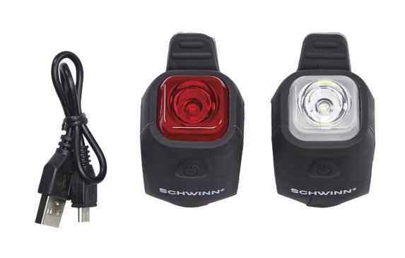 Schwinn 30 Lumen USB Rechargeable Bike Light Set Product image