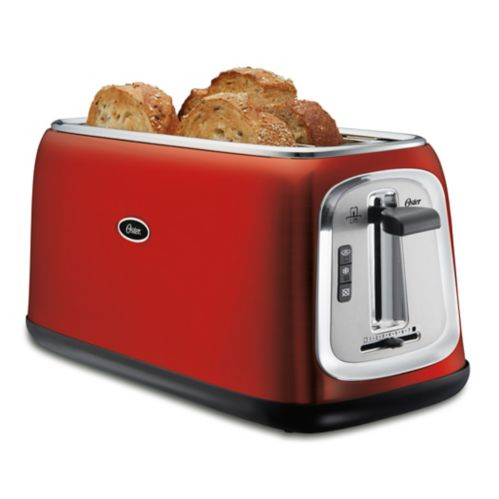 Oster® Long-Slot Toaster, Red Metallic, 4-Slice Product image