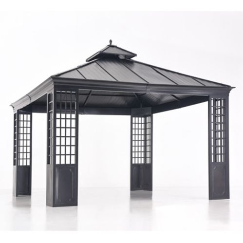 Sunjoy Mentor Gazebo with Black Colour Top, 12 x 12-ft Product image
