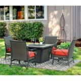 Sunjoy Metro LP Firepit Chat Set, 5-pc