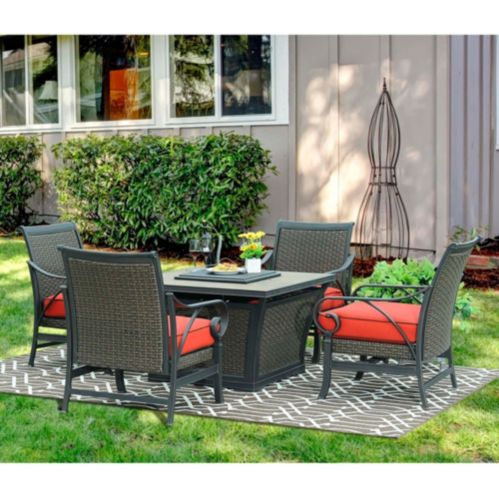 Sunjoy Metro LP Firepit Chat Set, 5-pc Product image