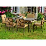 Sunjoy Venteux Steel Dining Set, 7-pc