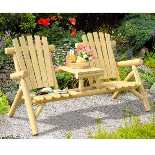 Sunjoy Merriman Wood Tete-a-Tete Product image