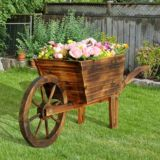 Chariot à fleurs en bois Sunjoy Rimbaud