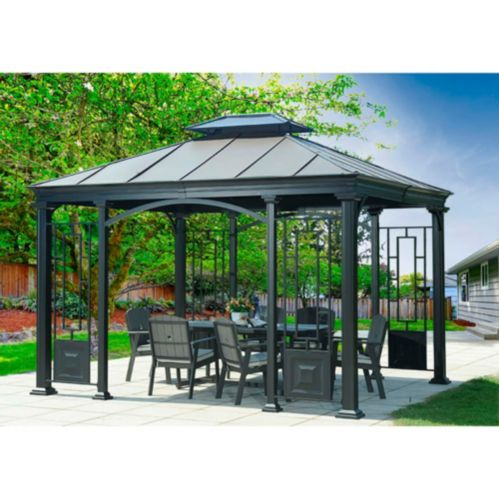 Sunjoy Sultana Gazebo with Faux Copper Top Product image